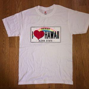 NWOT I Heart Hawaii White T-Shirt Tee Aloha State